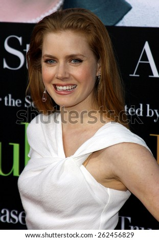 Amy Adams at the Los Angeles premiere of 'Julie and Julia' held at the Mann Village Theatre in Westwood, USA. July 27, 2009.  - stock photo