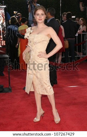 Amy Adams  at the Los Angeles Premiere of 'Tropic Thunder'. Mann's Village Theater, Westwood, CA. 08-11-08 - stock photo