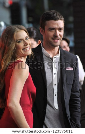 """Amy Adams & Justin Timberlake at the premiere of their movie """"Trouble With The Curve"""" at the Mann Village Theatre, Westwood. September 19, 2012  Los Angeles, CA Picture: Paul Smith - stock photo"""