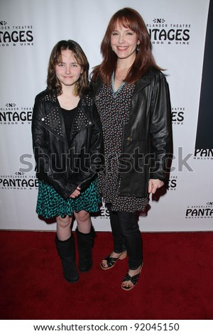 Amy Yasbeck and daughter at the AVENUE Q Los Angeles Return, Pantages, Hollywood, CA. 03-01-11