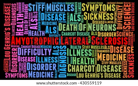 Amyotrophic Lateral Sclerosis word cloud concept