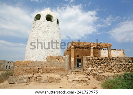An abandoned mosque in the United Arab Emirates. - stock photo
