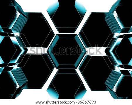 An abstract background containing glass looking solids