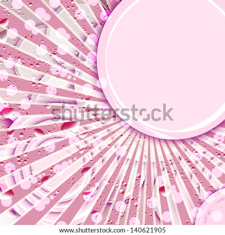 An abstract background illustration of circles and lines. - stock photo