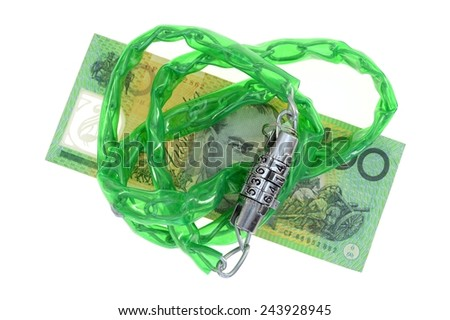 An abstract close up business image of finical security - stock photo