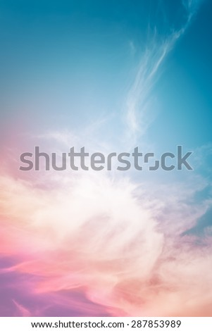 An abstract cloud background with a multicolored gradient. - stock photo