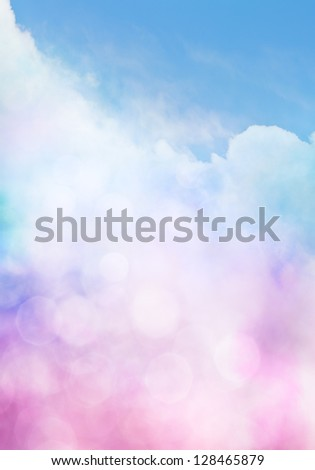 An abstract cloudscape with bokeh effects.