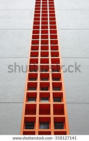 An abstract colorful concrete mesh structure.  - stock photo