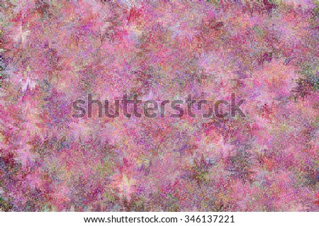 AN ABSTRACT COLORFUL PATTERN. Print design realized in tints of lilac and violet colors. For textile, fabrics, wallpapers, backgrounds, packaging paper, backdrops etc.   - stock photo