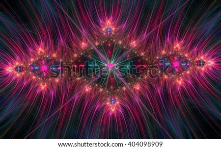 An abstract computer generated fractal design. A fractal is a never-ending pattern. Fractals are infinitely complex patterns that are self-similar across different scales.  - stock photo