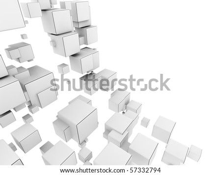 An abstract 3d background from cubes - stock photo