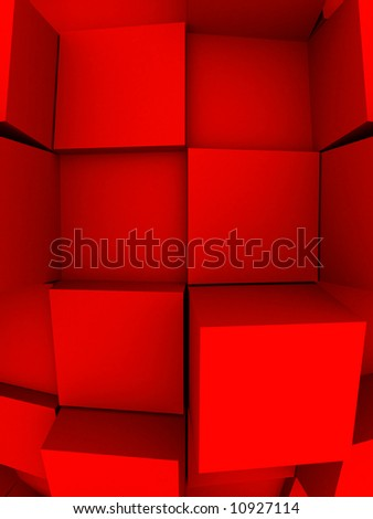 An abstract 3d background with cubes growing out of it.