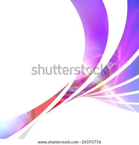 An abstract design template or layout with swoosh lines. - stock photo