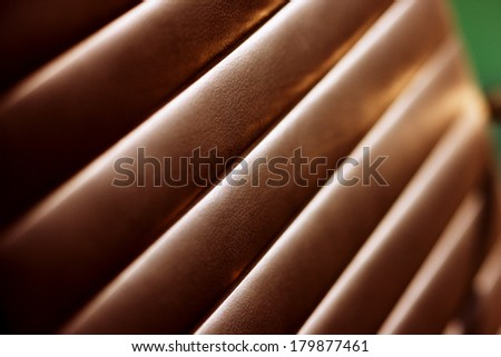 An abstract detail of a contemporary office chair - stock photo