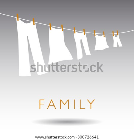 An Abstract Family Concept on a Gray Background - stock photo