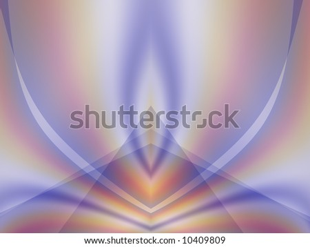 An abstract fractal background in lovely hues of pale blue, purple, orange, pink and white. - stock photo