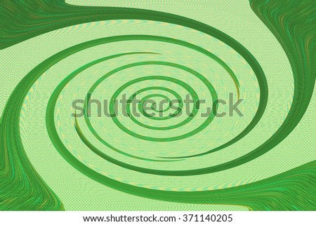 An abstract green spiral background image. - stock photo