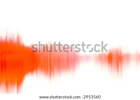 An abstract grunge photo similar to a waveform or paint on wet paper - stock photo