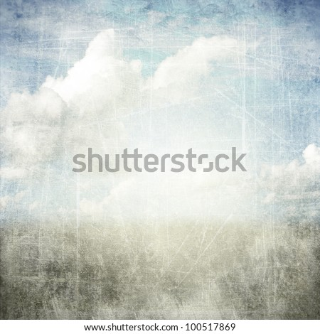 An abstract grunge texture background with clouds. Page to design photo books