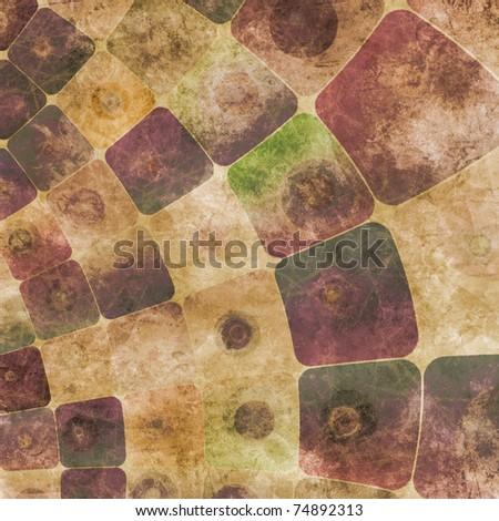 An abstract grungy image of squares curved,  in purple tones - stock photo