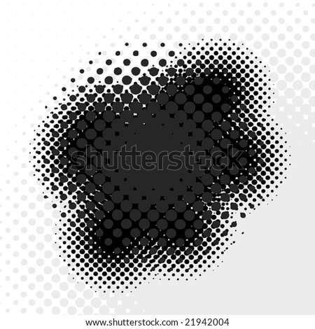 An abstract halftone badge - an excellent design element.