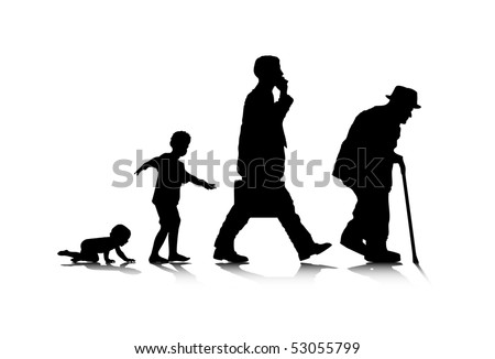 Old Man Silhouette Stock Images Royalty Free Images