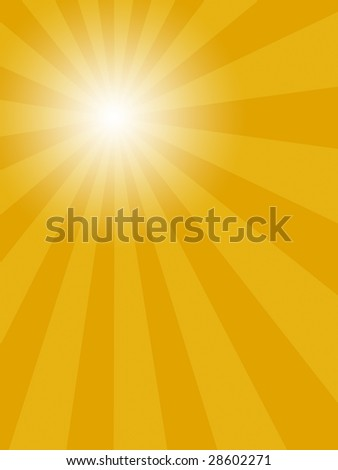 An abstract illustration of sun shine in portrait format