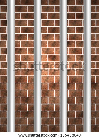 An abstract image of a prison cell - stock photo