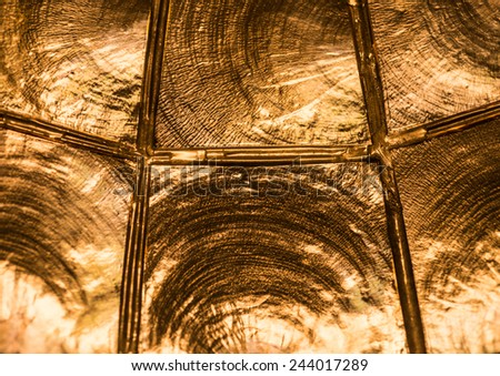 An abstract macro shot of a light fitting.