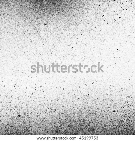 An abstract paint background in black and white - stock photo