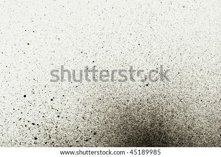 An abstract paint splatter frame in black and white - stock photo