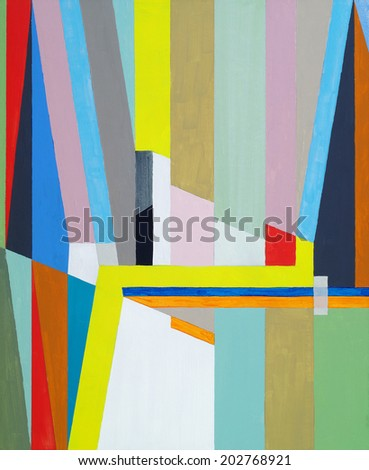 an abstract painting  - stock photo