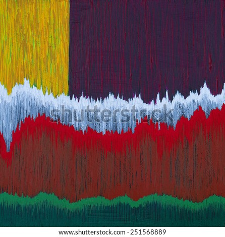 an abstract painting, suggesting trees - stock photo