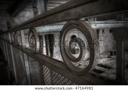 an abstract picture a a railing - stock photo