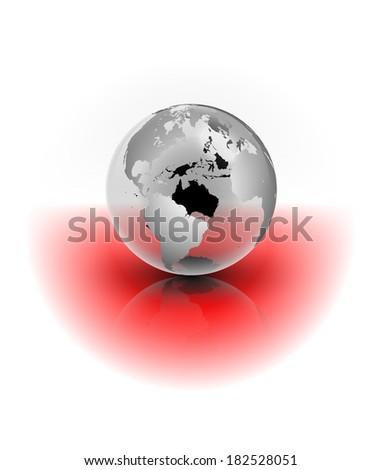 An abstract raster illustration of a crystal globe. - stock photo