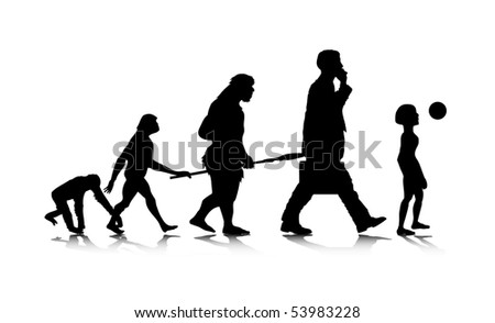 An abstract raster illustration of a future human evolution. - stock photo