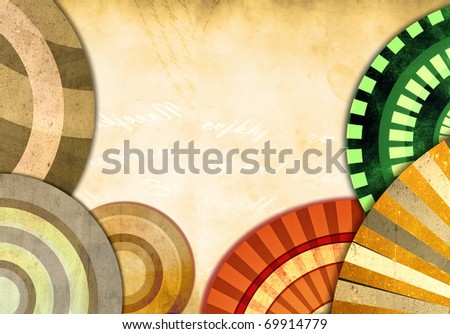 An abstract retro background - stock photo