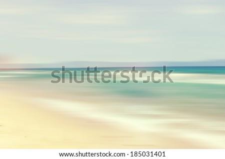 An abstract sea seascape - stock photo