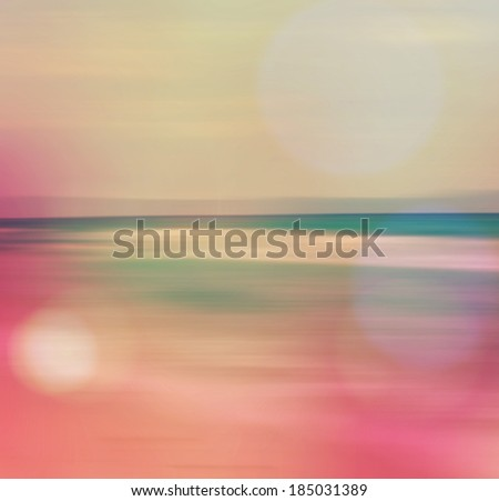 An abstract sea seascape with filtered retro effect  - stock photo