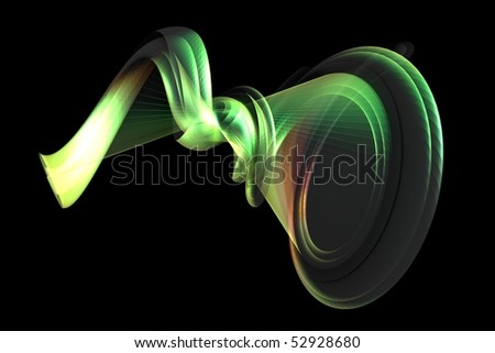 An abstract shape in colors - a 3d image - stock photo