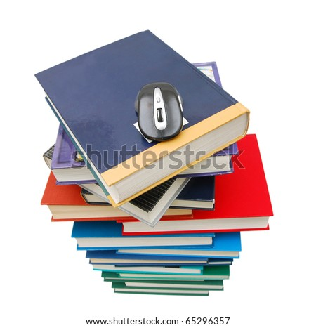 An abstract textbook tower - stock photo