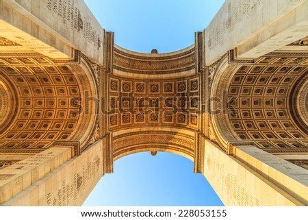 An abstract view of Arc de Triumph, Paris - stock photo