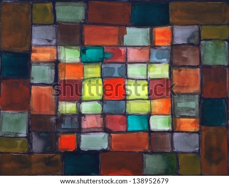 an abstract watercolour painting - stock photo