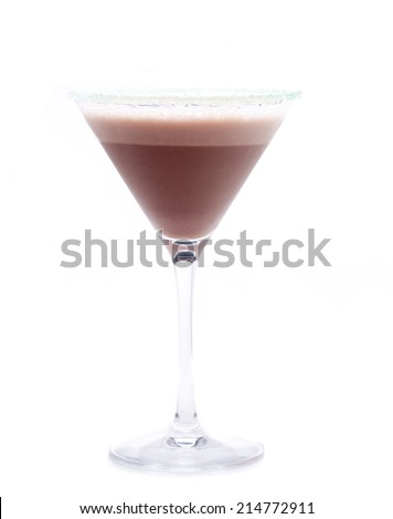 an ac cocktail with chocolate and vodka, known as chocolate martini - stock photo
