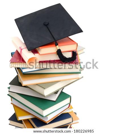 An achievement degree on school  - stock photo