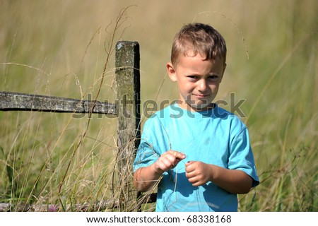 An adorable little boy upset - stock photo