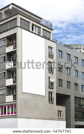 An advertising wall in Berlin Germany - stock photo