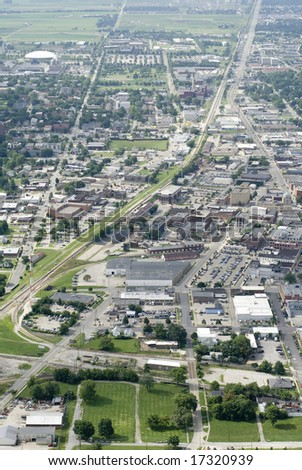 An aerial shot of a successful urban landscape. - stock photo