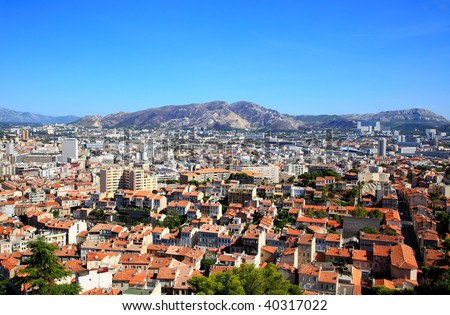 an aerial view of Marseille City France