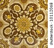 An Aesthetic period original tile dating around 1875 with Islamic Persian design - stock photo
